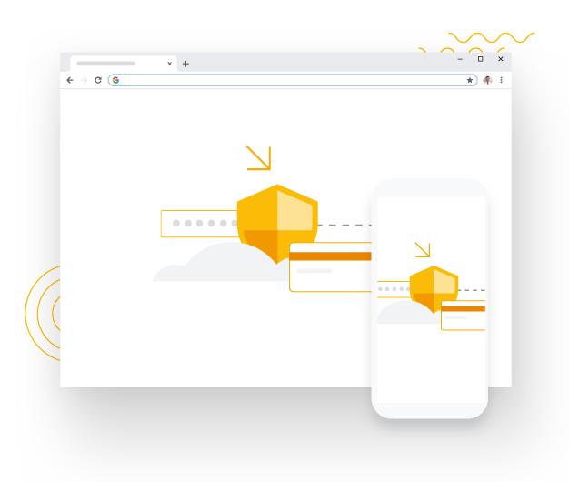 对网络上的安全隐患一无所知?没关系。Chrome 会自动为您提供安全保护,使您免遭网上诱骗网站和危险网站等安全问题的侵害。