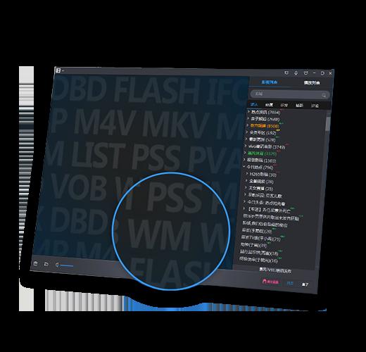 暴风影音共支持687种视频格式,每日为上亿用户提供1.5亿次播放服务,并开放解码器调节接口,供用户使用,只有不想看,没有不能看!