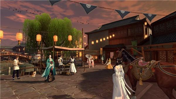 携手开封民俗街、非遗博物馆等景点,邀玩家体验北宋民俗文化长廊,并通过游园会、歌曲等形式影响更广泛的用户。